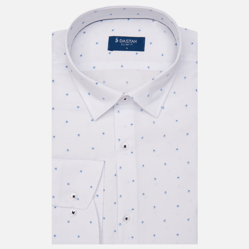 Koszula Slim Fit Circles Blue