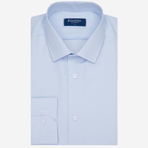 Koszula Slim Fit Żakard Blue