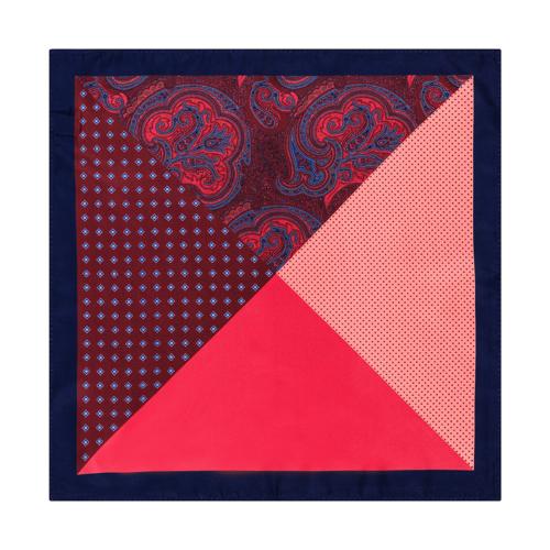 Poszetka Trójkąty&Kwadraty Red