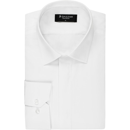 Koszula Tailored Kryta Plisa White