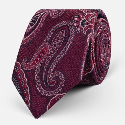Krawat Paisley Bordo