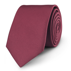 Krawat Plain Bordo