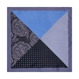Poszetka Trójkąty&Kwadraty Blue